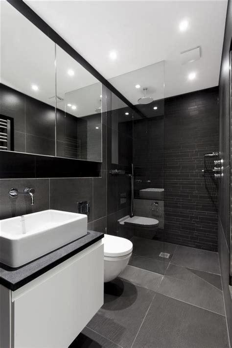 badezimmer schiefergrau anthrazit fliesen begehbare dusche - Graues Und Schwarzes Badezimmer