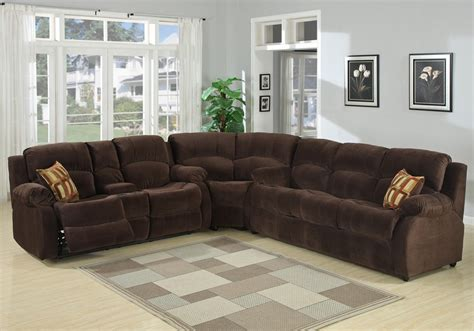 Plushemisphere   Sectional Sofas with Recliners for