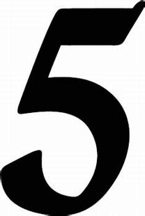 number 5 typography numbers clipart best