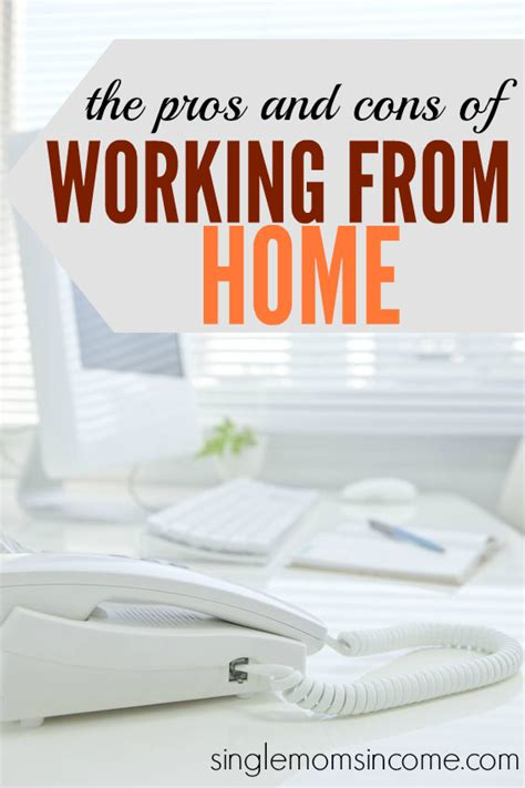 the pros and cons of working from home single income