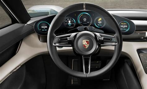 porsche electric interior porsche unveils electric sports concept car