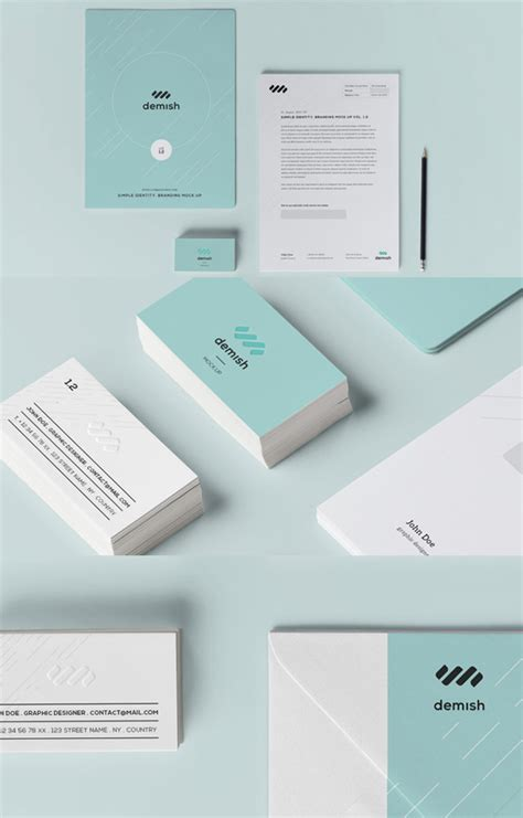 template mockup card set 41 best identity mockup templates for designer techclient