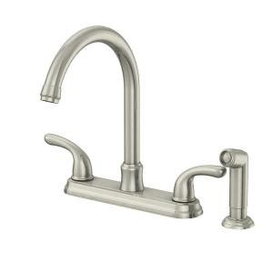 glacier bay kitchen faucet reviews glacier bay builders 2 handle standard kitchen faucet with