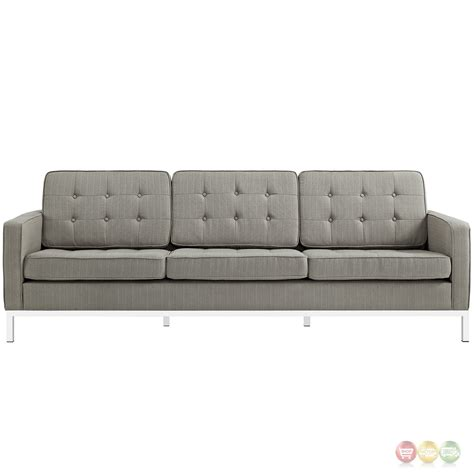 tufted button sofa loft modern 2pc upholstered button tufted sofa loveseat