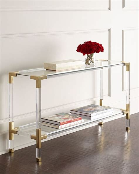 Lucite Sofa Table 33 Lucite And Acrylic Furniture Ideas For Modern Spaces