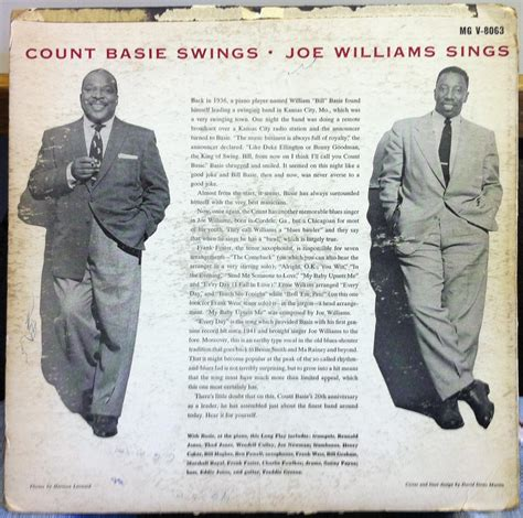count basie swings joe williams sings count basie joe williams swings sings lp vg mgv 8063 dsm