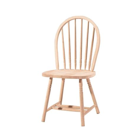 Wood Dining Chairs Unfinished International Concepts Unfinished Wood Spindle Back Dining Chair 1c 114 The Home Depot