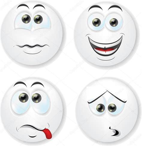 imagenes de caras asombradas caras de dibujos animados con las emociones vector de