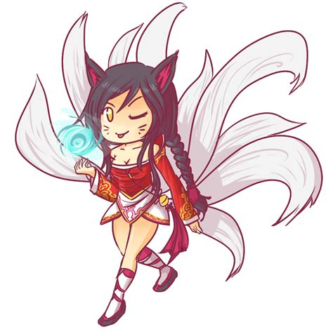 Anime 9 Tailed Fox by Ahri The Nine Tailed Fox By Shazaca On Deviantart