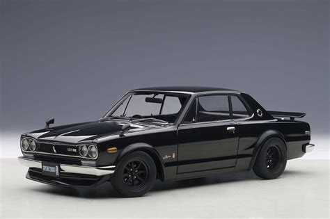 nissan hakosuka highly detailed autoart diecast model black nissan skyline