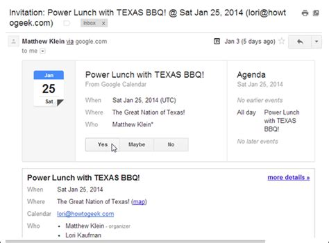 Calendar Invites Gmail Gmail Guide Invitations And Vacation Responders
