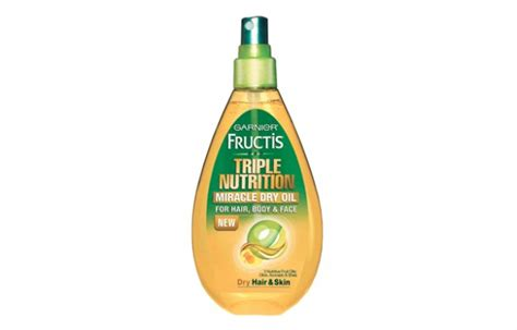 garnier fructis triple nutrition miracle dry oil for hair body garnier fructis triple nutrition miracle dry oil