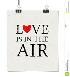 love is in the air poster stock vector image 49176327