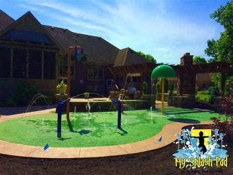 backyard splash park residential splash pad in crawfordsville indiana by my