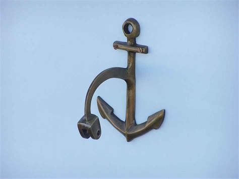 buy antique brass hanging anchor bell 8 inch nautical