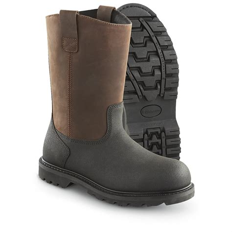 pull on work boots dunham 174 rigger steel toe pull on workboots brown