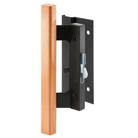 sliding glass door handle home depot best home furniture prime line sliding door handle set black finish wood