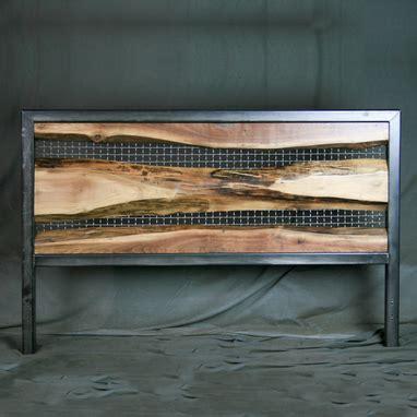 raw wood headboard buy a hand crafted vintage industrial live edge headboard