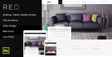 Real Estate Muse Template Wordpress Theme Muse Real Estate Template