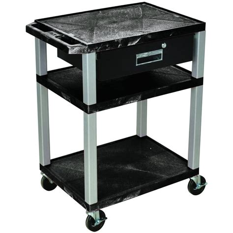 Drawer Cart Wilson Tuffy Utility Cart With Locking Drawer 300 Lb
