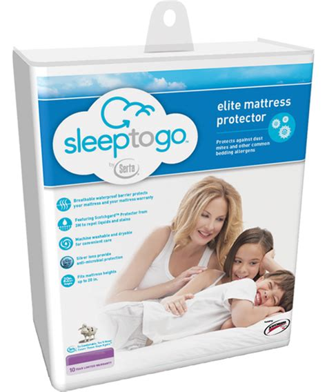 Sleep To Go Mattress Protector by Serta Sleep To Go Elite Mattress Protector Mattress Pads