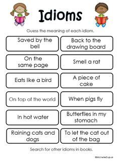 Idioms By Theme For Composition 1000 images about reading read aloud responses and