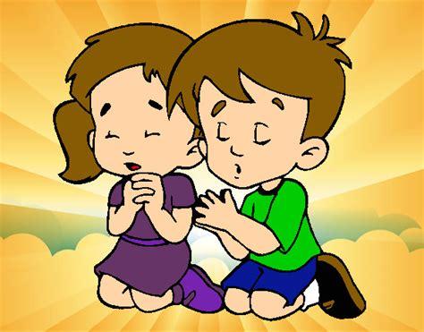 imagenes de niños orando para pintar dibujo de ni 241 os rezando pintado por maily138 en dibujos
