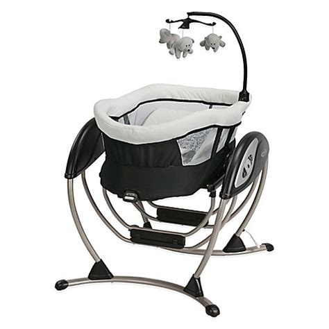 black and white baby swing graco 174 dreamglider gliding seat sleeper in sutton
