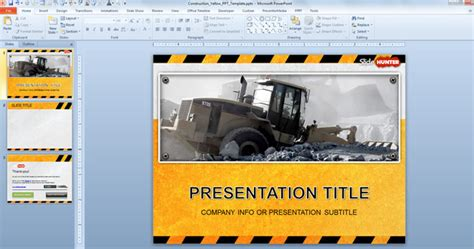 ppt templates free download construction free free industrial powerpoint template with yellow