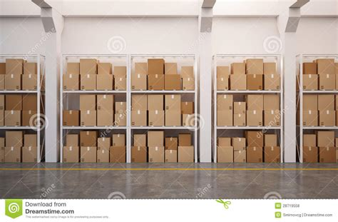 How Many U In A Rack by 3d Rendered Warehouse With Many Stacked Boxes On Pallets