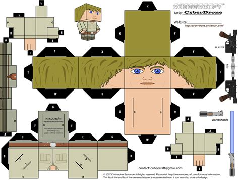 Starwars Papercraft - cubee luke skywalker bespin by cyberdrone on deviantart