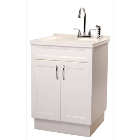 laundry sink cabinet lowes shop transform 25 in x 22 in abs white freestanding
