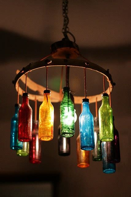 Bottle Chandelier Diy Fancy Something Interesting Recycled Bottle Chandelier