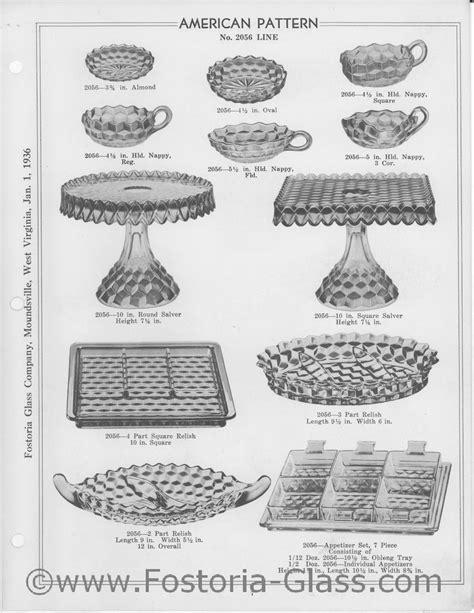 vintage glass pattern identification american pattern no 2056 line fostoria american