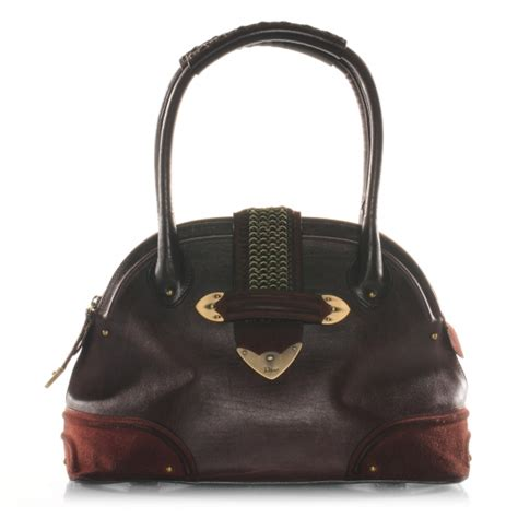 Jeanne Nubuck Medium Bag by Christian Leather Nubuck Jeanne Bugatti Bag 38362