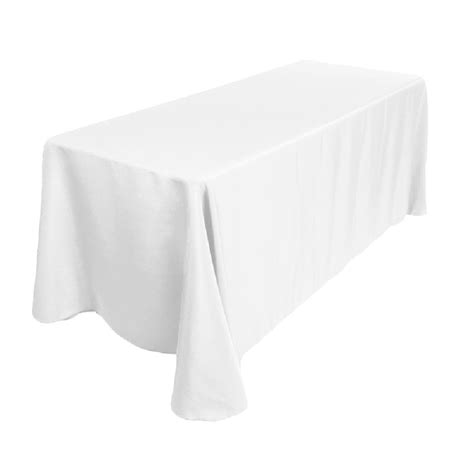 white table cloth polyester tablecloth 90 quot x 156 quot white prestige linens