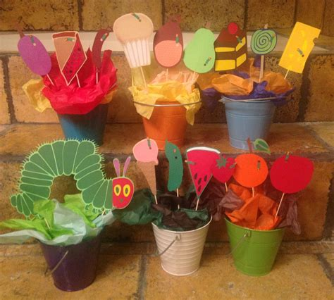 hungry caterpillar centerpieces handmade by me