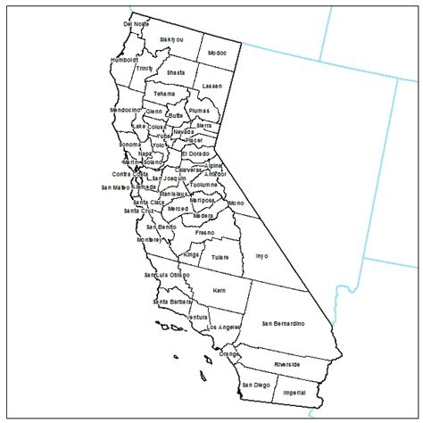 California County Map Outline With Cities by Free Printable Maps Printable Maps Of California Printfree