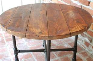 Home Decoration Lights rustic round coffee table with storage rustic round