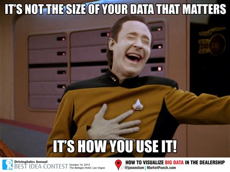 More Meme - how to visualize big data in the dealership meme big data and humor