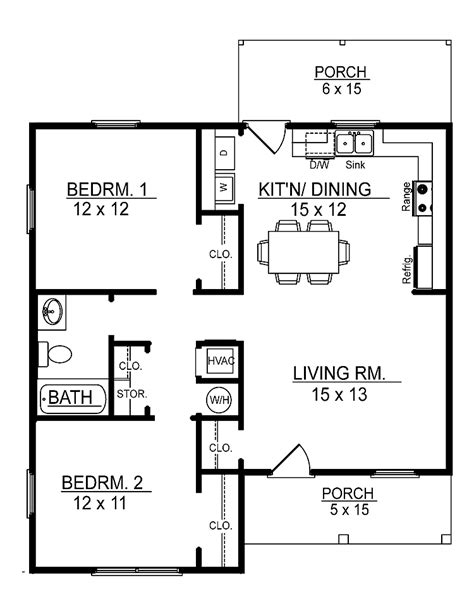 house plan 2 bedroom 1 bathroom waterfaucets