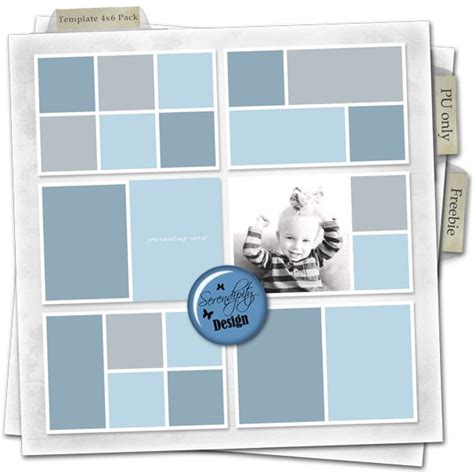 Serendipity Design Free Freebie Template Pack 4x6 Project Life Printable Scrapbooking Instagram 4x6 Design Template