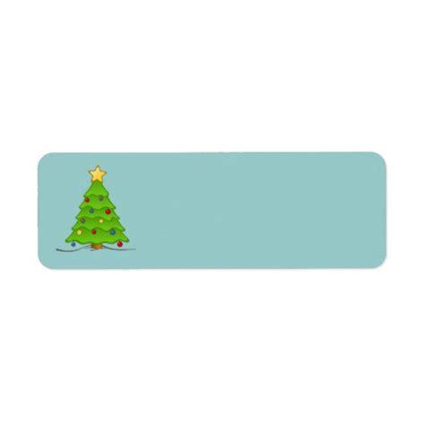 christmas tree blank labels return address label zazzle