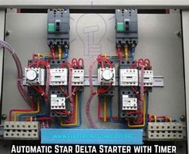star delta 3 phase motor automatic starter with timer