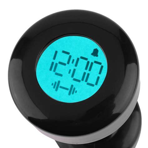 Dumbbell Alarm Clock aliexpress buy creatively 10 kg dumbbell lcd digital alarm clock normal exercise lift up