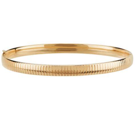 pattern gold bangle eternagold 7 1 2 quot omega pattern bangle bracelet 14k gold