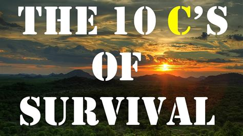 the 10 c s of survival gear