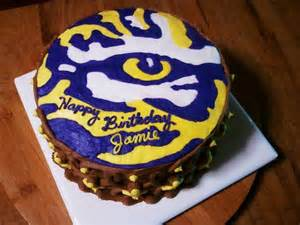 lsu cake cake ideas pinterest