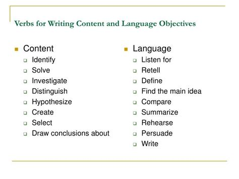 ppt creating content and language objectives powerpoint