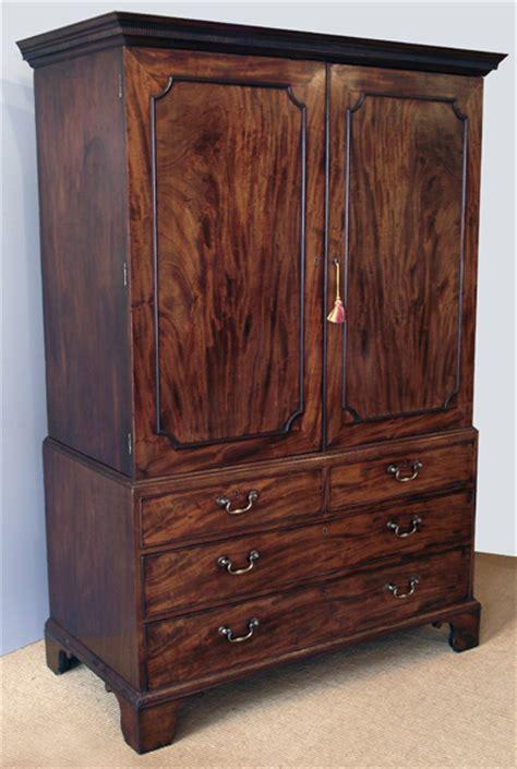 georgian mahogany linen press antique wardrobe antique